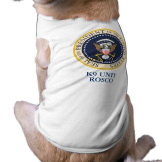 Präsidentenhund Ärmelfreies Hunde-Shirt