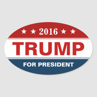 Präsidentenkampagne Donald Trump 2016 Ovaler Aufkleber
