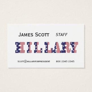 Präsidentschaftswahl Hillary 16 Visitenkarte