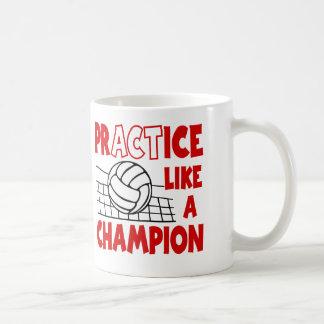 Praxis mag einen Meister, rot Kaffeetasse