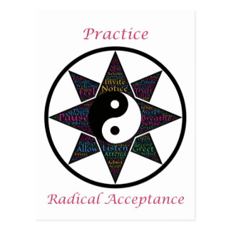 Praxis-Radikal-Annahme Postkarte