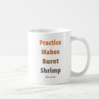 Praxis stellt gebrannte Garnele-Tasse her Kaffeetasse