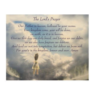 Prayer des Lords Holzleinwand