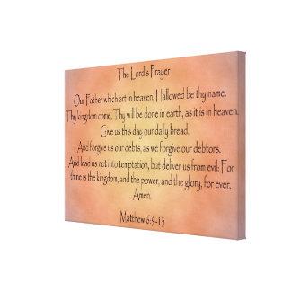 Prayer des Lords orange Vintager Hintergrund Gespannte Galerie Drucke