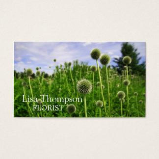 Pré de carte de visite de fleuriste de bulles