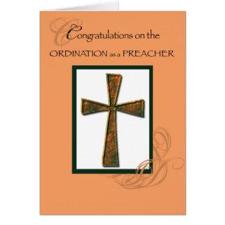 Prediger-Klassifikations-Glückwunsch-Kreuz Karte