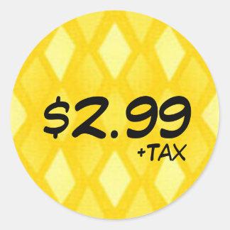 Preisschild mit Steuer Runder Aufkleber