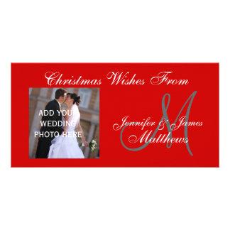 Premier carte photo marié de vacances de Noël Photocarte Customisée