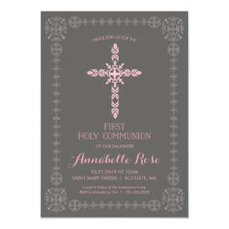 Première invitation de filles de sainte communion