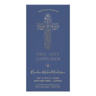 Première invitation de sainte communion - or,