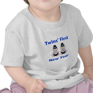 Première nouvelle année de jumeaux t-shirt