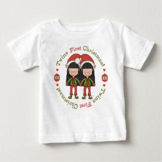 Premiers elfes de Noël de jumeaux Tee Shirts