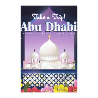 Prenez à un voyage Abu Dhabi l'affiche vintage de Toiles