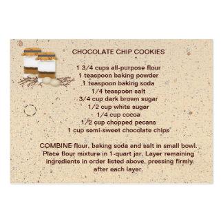Préparation de biscuit dans une étiquette de carte de visite grand format