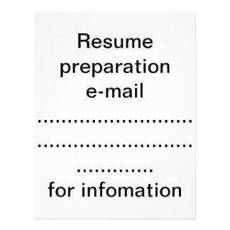 Préparation de résumé prospectus 21,6 cm x 24,94 cm