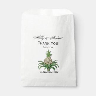 Preppy heraldisches Ananas-Wappen Wappen Geschenktütchen