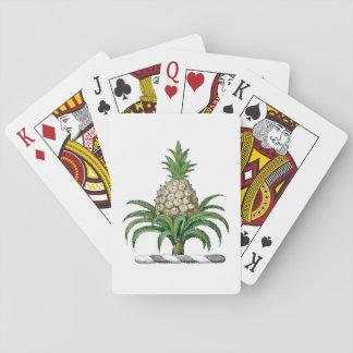 Preppy heraldisches Ananas-Wappen Wappen Spielkarten
