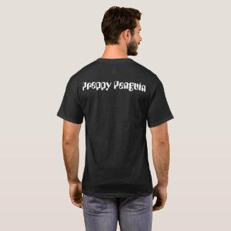 Preppy Penguin-asiatischer Landschafts-Schwarz-T - T-Shirt