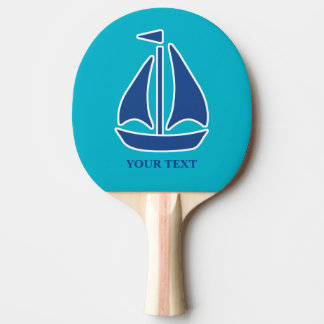 Preppy personalisiertes des blauen tischtennis schläger