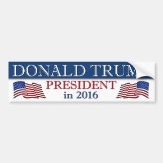 Président de Donald Trump en 2016 patriote Autocollant De Voiture