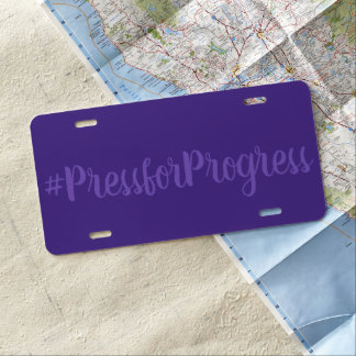 #PressforProgress HashTag der Tag internationaler US Nummernschild