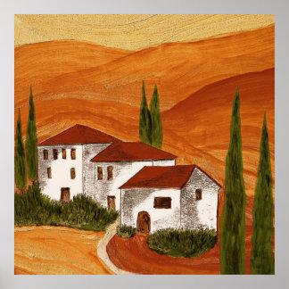 Pression de toile toile Canvas impression Toscana Poster