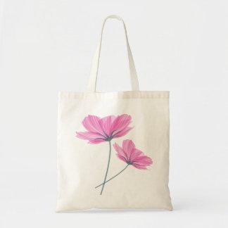 Pretty pink flower drawing sac en toile budget