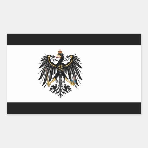 Preussische Flagge Rechteckige Sticker