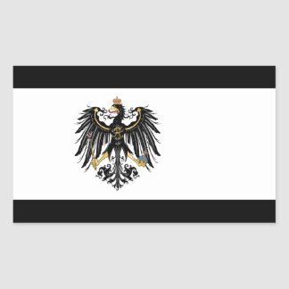 Preussische Flagge Rechteckiger Aufkleber