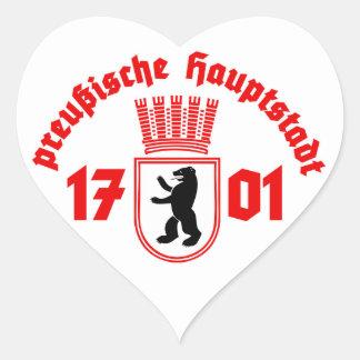 preußische Hauptstadt Herz-Aufkleber