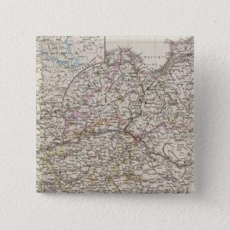 Preussische Provinzen Quadratischer Button 5,1 Cm