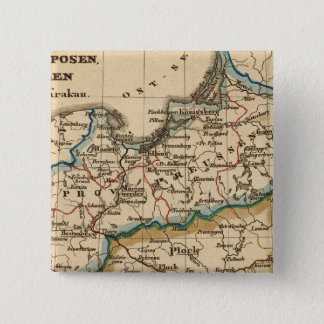 Preussisches Reich Quadratischer Button 5,1 Cm