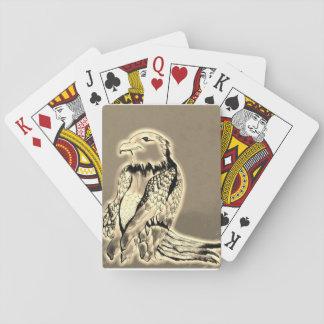 Preying goldenes Eagle Spielkarten