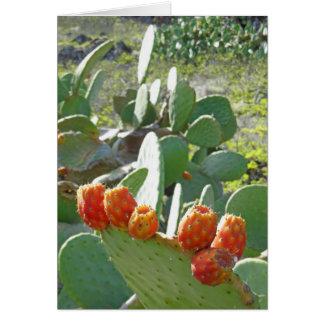 Prickley Birnen-Kaktus-Frucht Karte