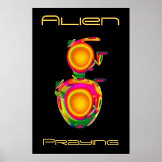 Prière étrangère surréaliste de Sci fi Posters