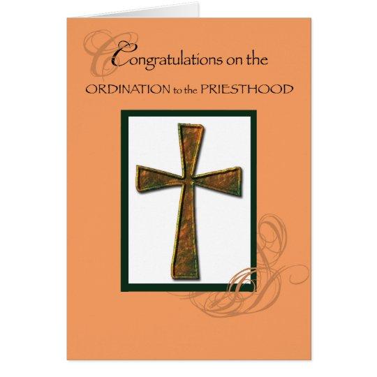 Priester-Klassifikations-Glückwunsch-metallisches Grußkarte