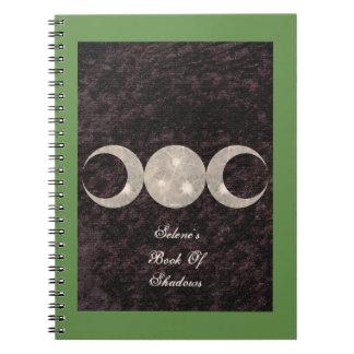 Prim Mond-Entwurfs-Buch von Schatten BOS Grimoire Spiral Notizblock