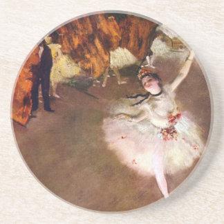 Prima Ballerina, Rosita Mauri durch Edgar Degas Sandstein Untersetzer