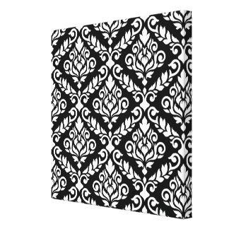 Prima Damast großes Ptn Weiß auf Schwarzem Gespannte Galeriedrucke