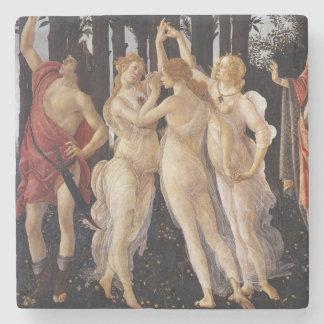 Primavera: Die drei Umgangsformen durch Botticelli Steinuntersetzer