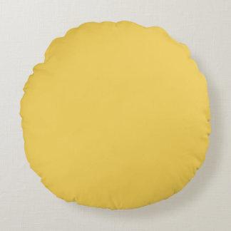 Primel-gelbe Farbe Rundes Kissen