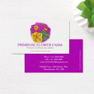 Primrose flower farm plant suppliers business card visitenkarte
