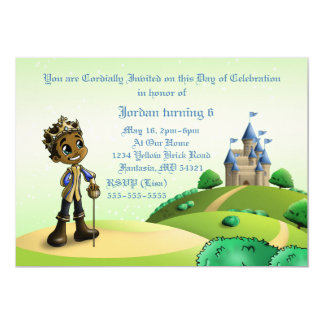 """Prince Birthday"" 7"" x 5"" invitations"