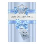 Prince bleu Crown de garçon de baby shower petit Invitations