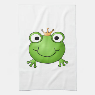 Prince de grenouille. Grenouille heureuse Linge De Cuisine