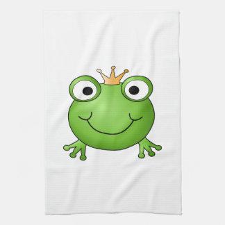 Prince de grenouille. Grenouille heureuse Serviettes Pour Les Mains