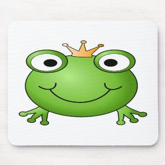 Prince de grenouille. Grenouille heureuse Tapis De Souris