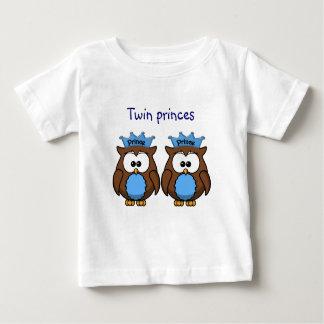 princes jumeaux de hibou t-shirt pour bébé