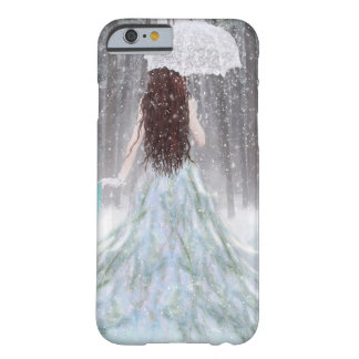 Princesse abstraite de neige d'hiver d'ange coque iPhone 6 barely there