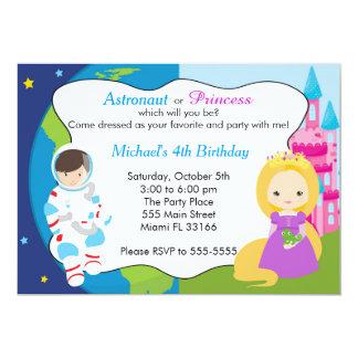 Princesse Boy Birthday Invitation d'astronaute